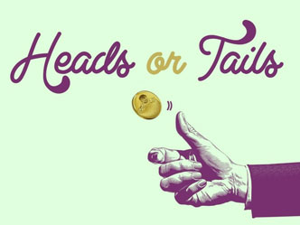 Hand doing heads or tails to pick a decision